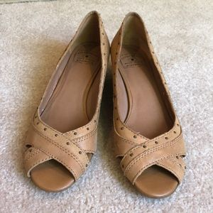 Lucky brand FRANKIE BROWN LEATHER heels 9.5 SHOES